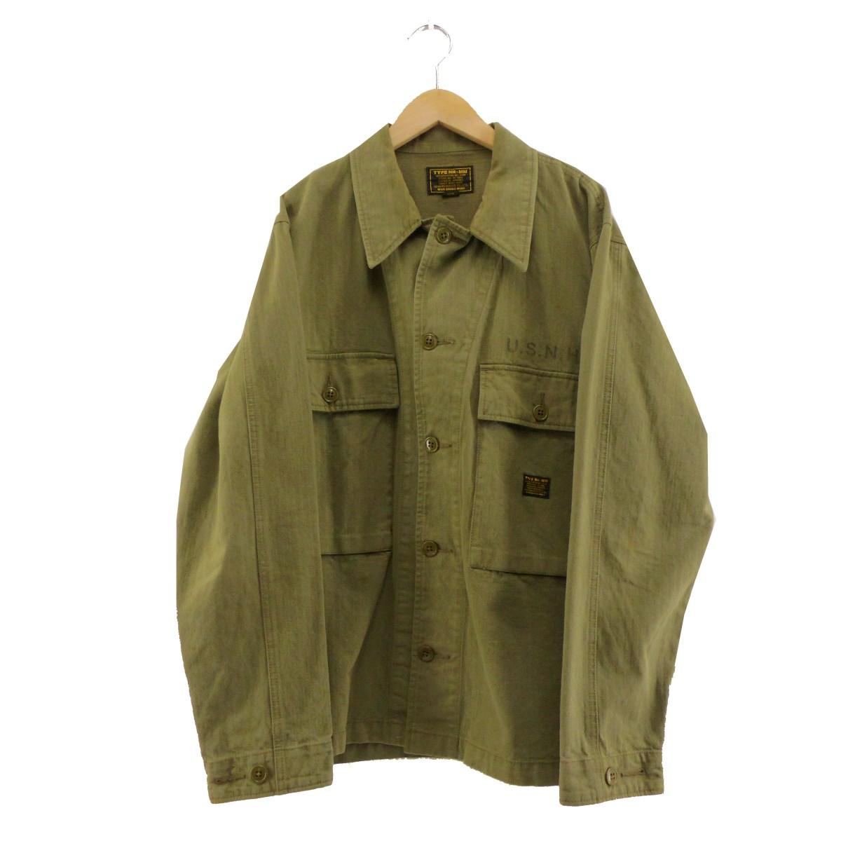 【中古】NEIGHBOR HOOD ミリタリーシャツ カーキ サイズ:L 【280220】(ネイバーフッド)