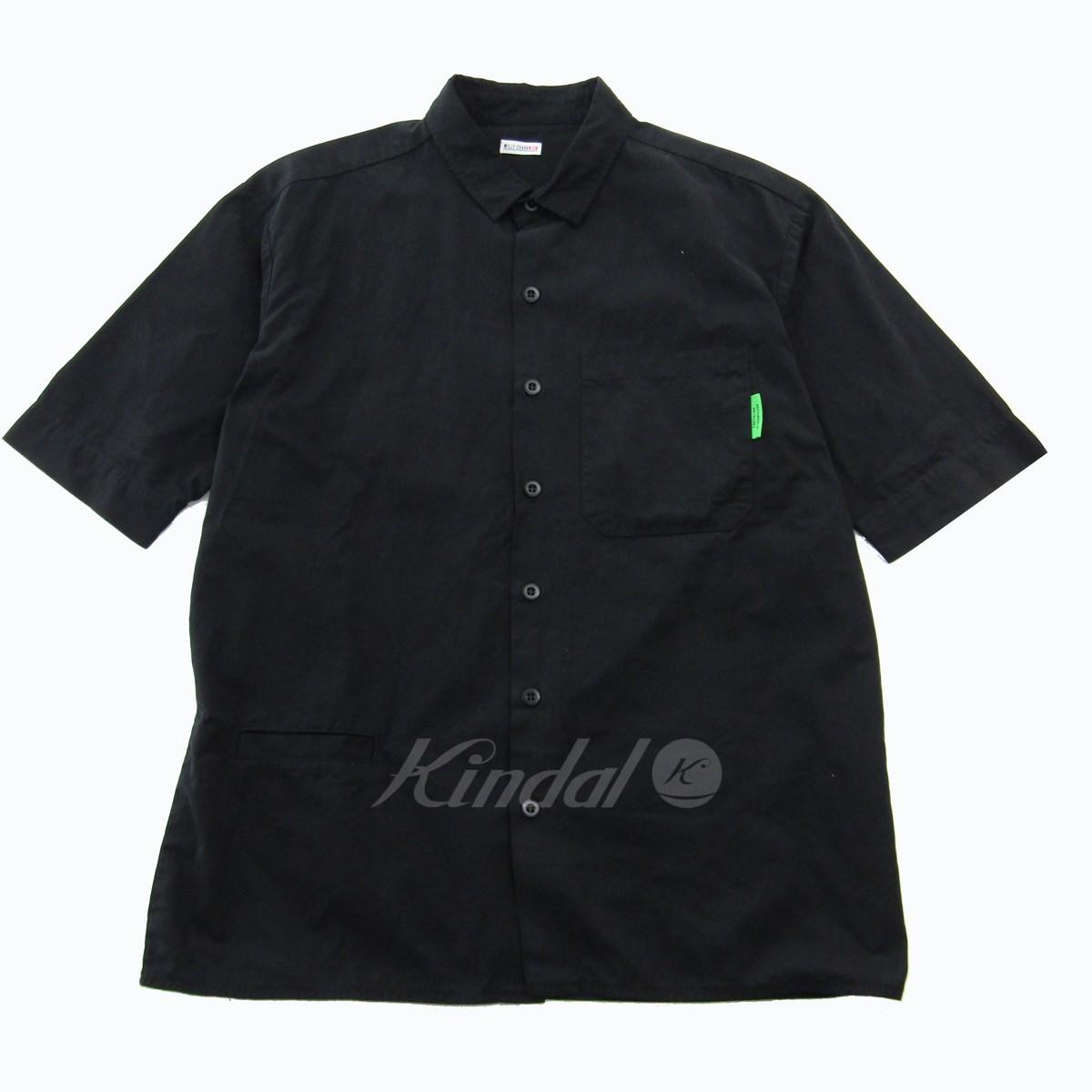 【中古】WILLY CHAVARRIA×WISM 2019SS WILLY S/S WORK SHIRT 半袖ワークシャツ ブラック サイズ:S