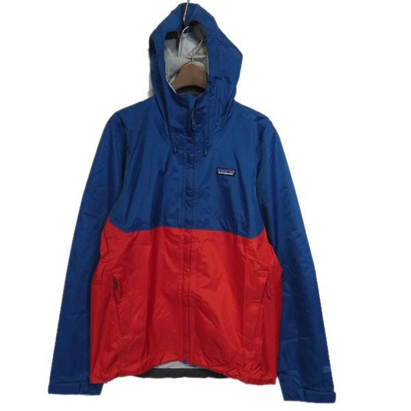 【中古】patagonia 2018AW トレントシェルジャケット ブルー×レッド サイズ:S 【290220】(パタゴニア)