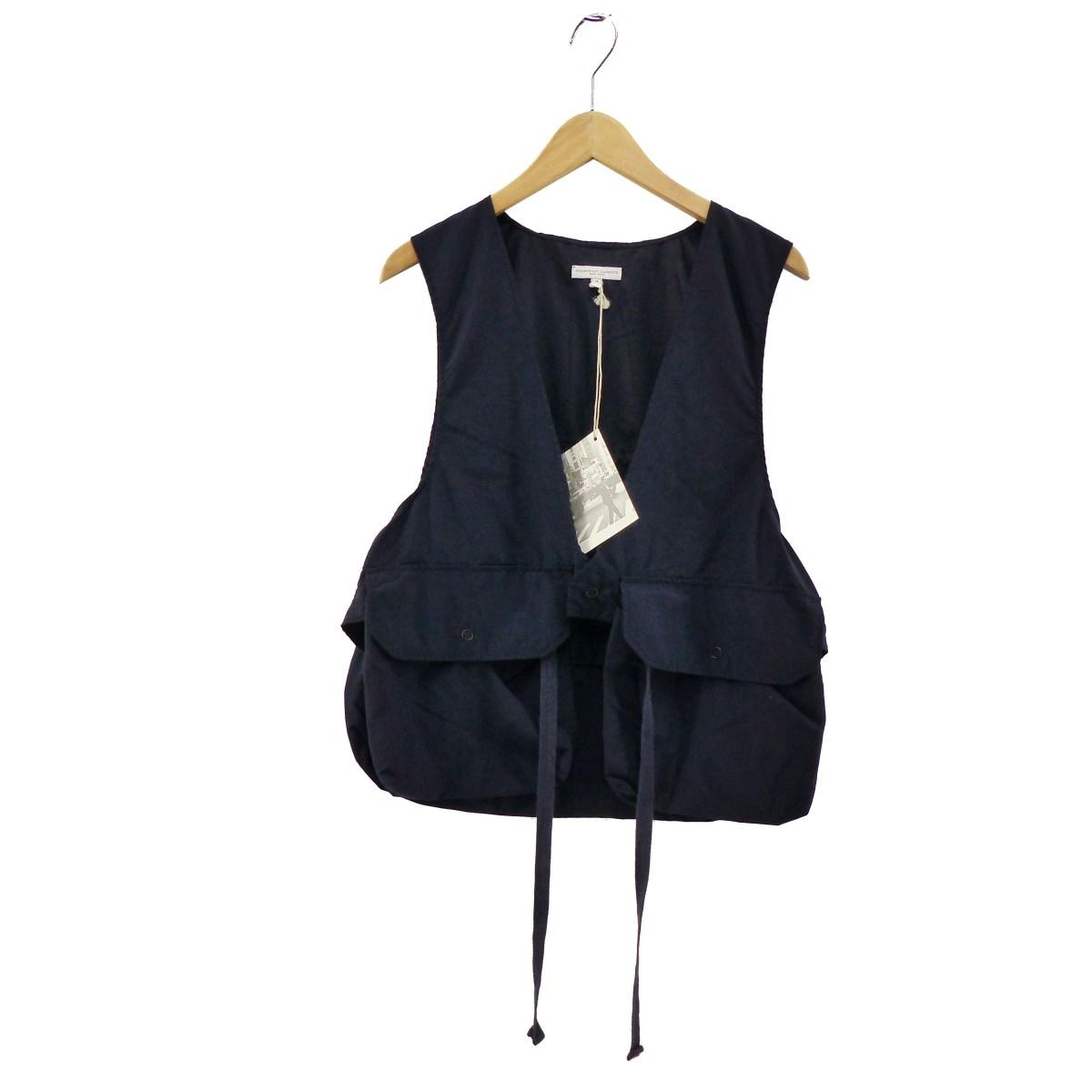 【中古】Engineered Garments2019SS Fowl vest ネイビー サイズ:S