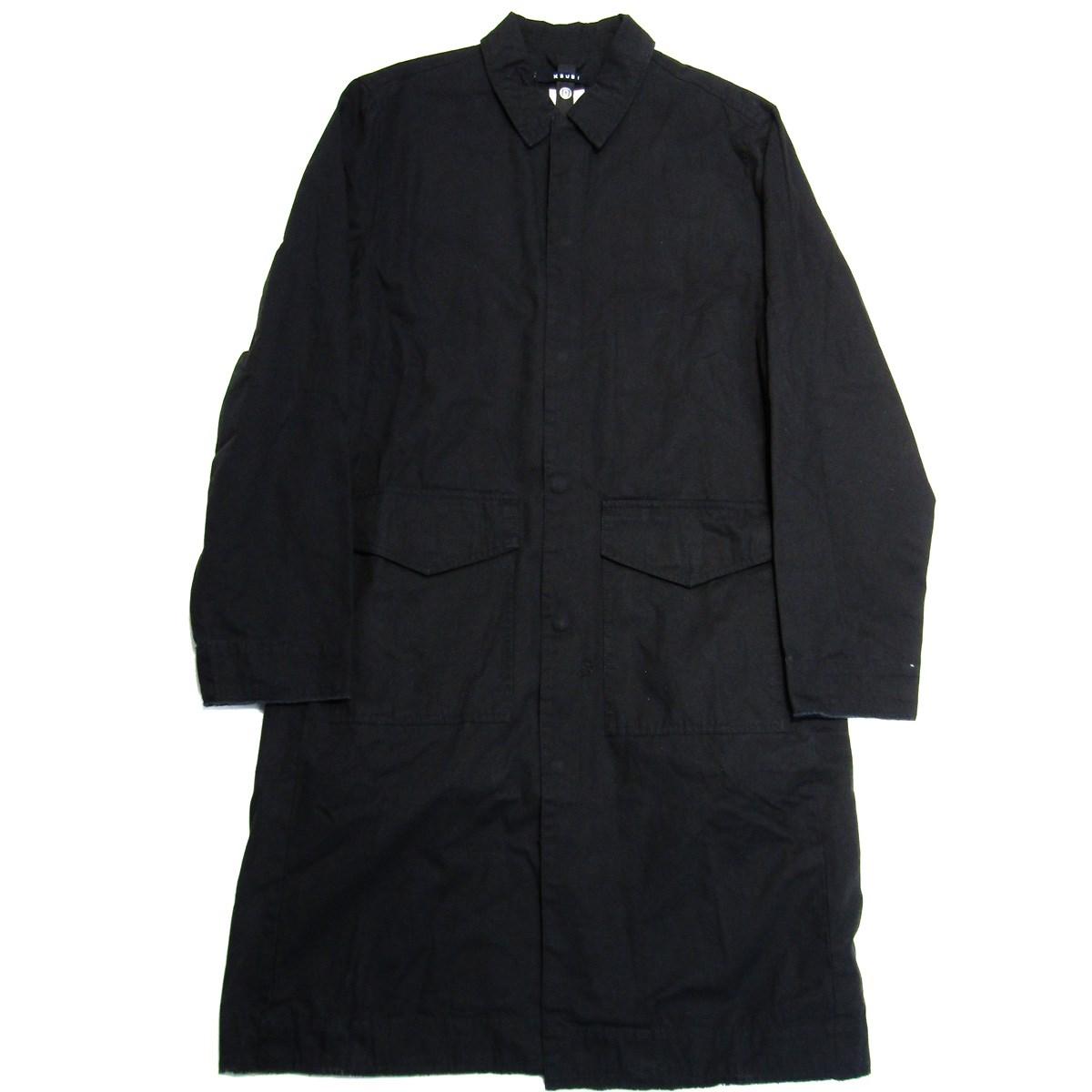 【中古】Ksubi Face Duster Washed Black ウォッシュ加工ロングコート ブラック サイズ:M 【290220】(スビ)