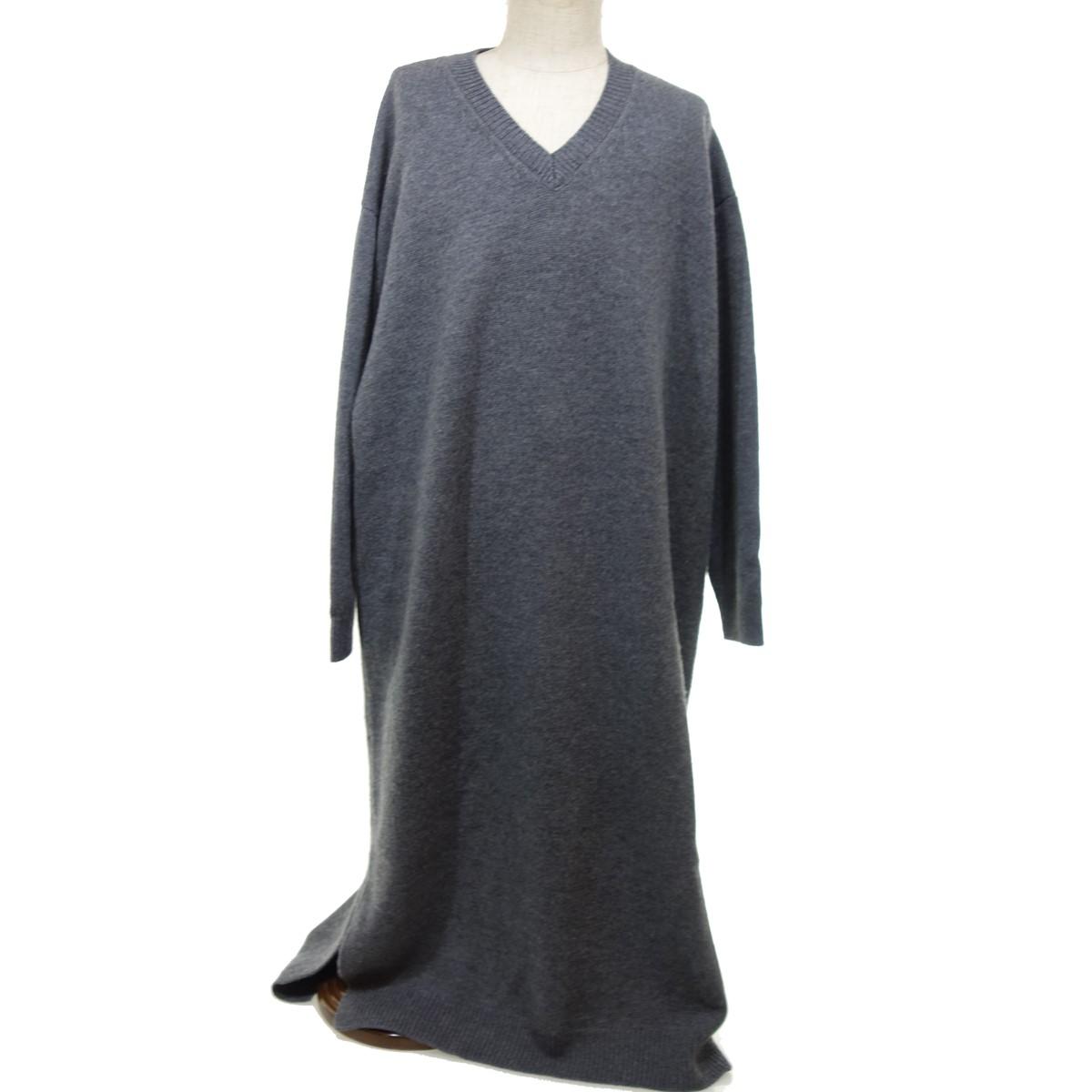 【中古】ENFOLD DRESS ニットワンピース グレー サイズ:38 【010320】(エンフォルド)