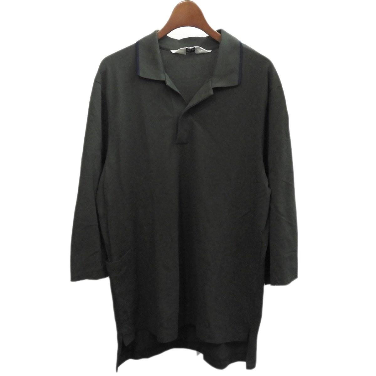 【中古】SUNSEA 2018SS 「BIG POLO SHIRT」 ビッグポロシャツ グリーン サイズ:2 【010320】(サンシー)