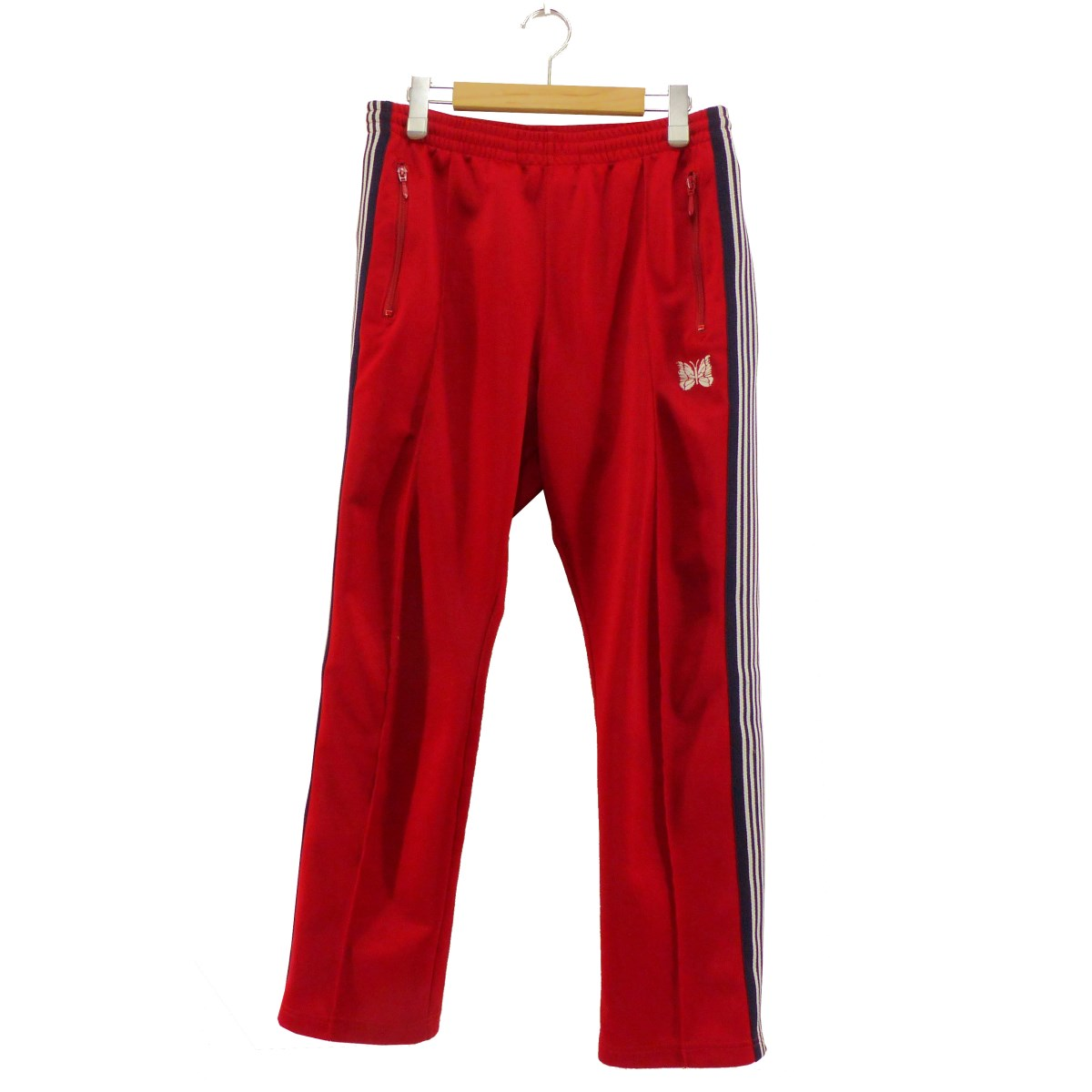 【中古】Needles NARROW TRACK PANT POLY SMOOTH レッド サイズ:S 【010320】(ニードルス)
