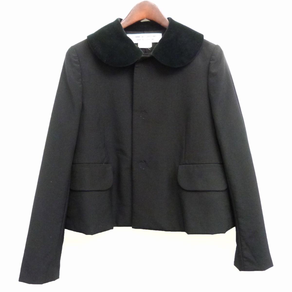 【中古】COMME des GARCONS COMME des GARCONS 17SS丸襟ジャケット ブラック サイズ:S 【010320】(コムデギャルソンコムデギャルソン)