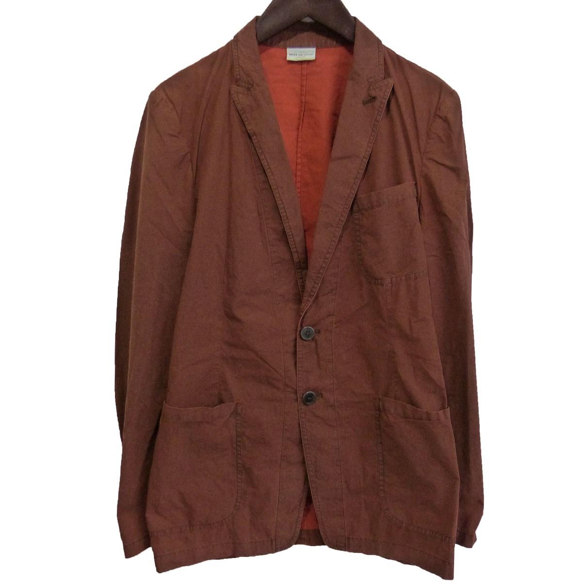 【中古】DRIES VAN NOTEN 染色テーラードジャケット ブラウン サイズ:46 【010320】(ドリスヴァンノッテン)