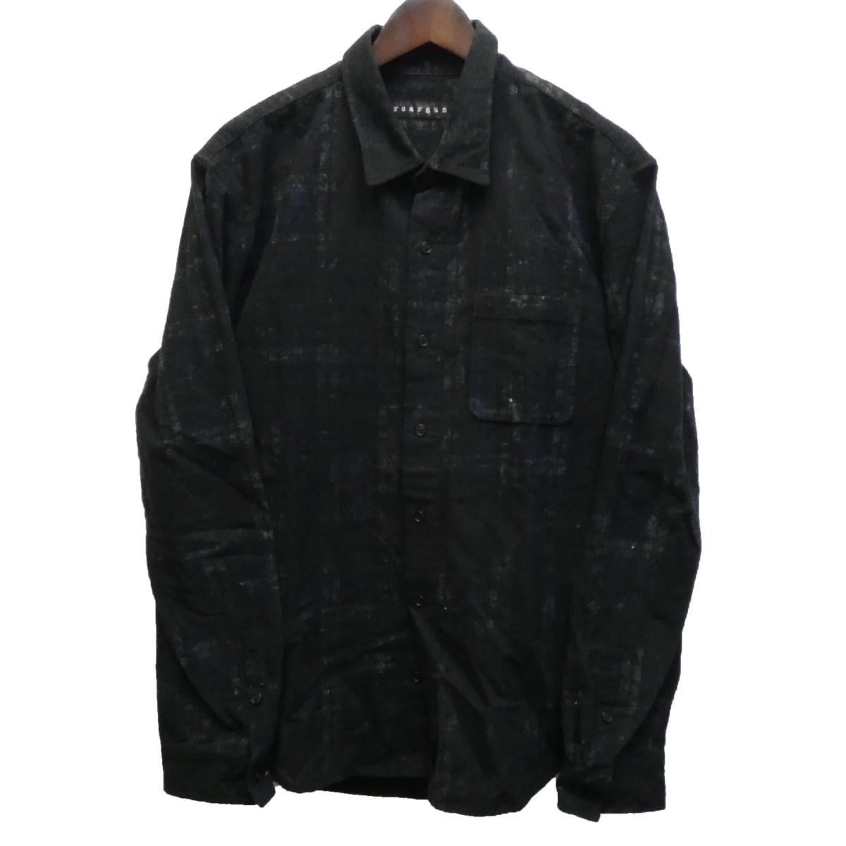 【中古】roar 19AW バックスワロチェックシャツ ブラック サイズ:4 【010320】(ロアー)