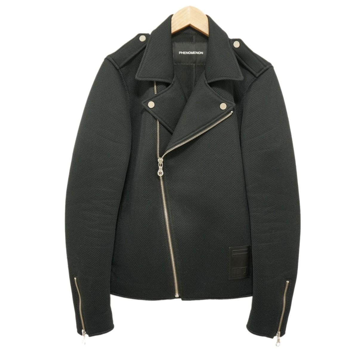 【中古】PHENOMENON 15SS メッシュ ライダースジャケット ブラック サイズ:40(L) 【030320】(フェノメノン)