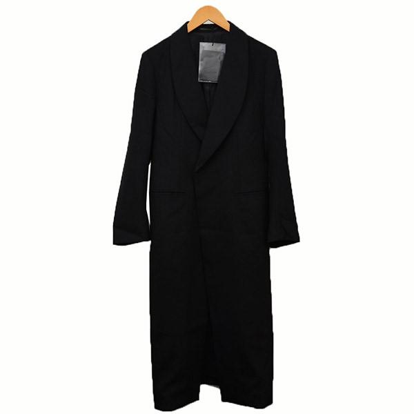 【中古】YOHJI YAMAMOTO2018SS ウールギャバロングコート コート ブラック サイズ:1 【4月2日見直し】