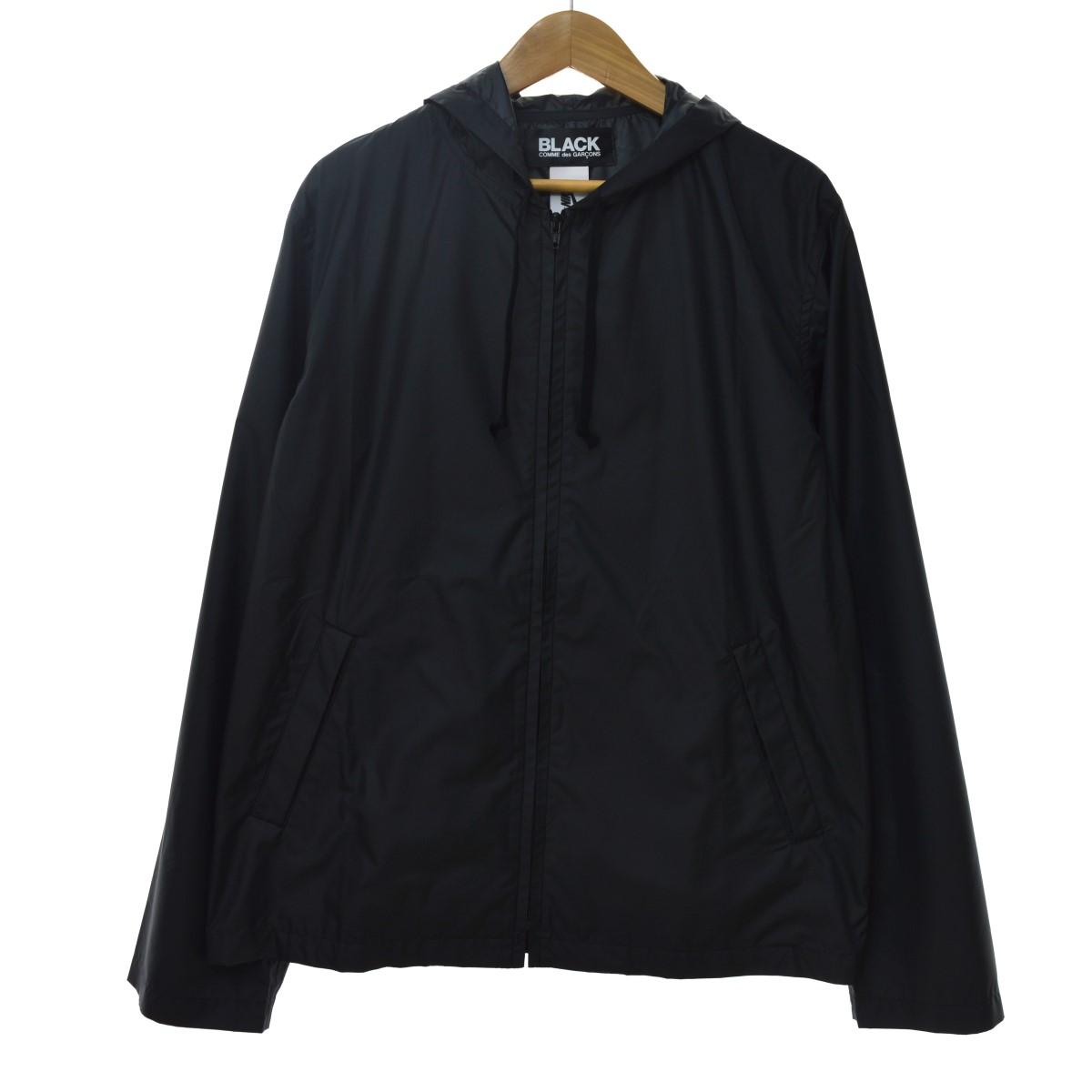 【中古】BLACK COMME des GARCONS17AW X Nike Polyester Hooded Jacket ナイロンジャケット ブラック サイズ:XL 【5月25日見直し】
