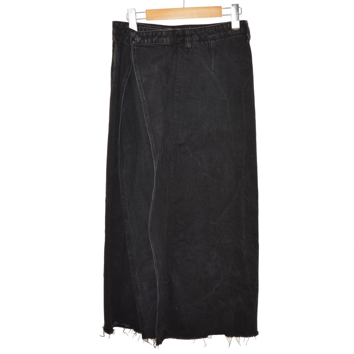 【中古】MM6 18AW ジップアップデニムスカート ブラック サイズ:42 【030320】(エムエムシックス)