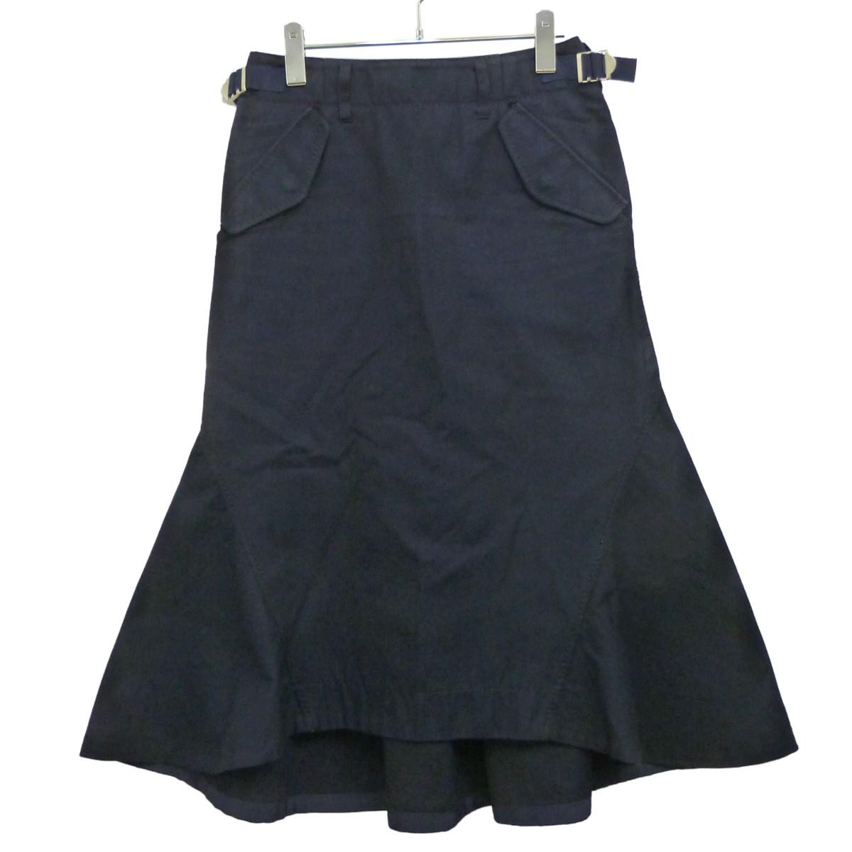 【中古】sacai レイヤードスカート ネイビー サイズ:1 【030320】(サカイ)