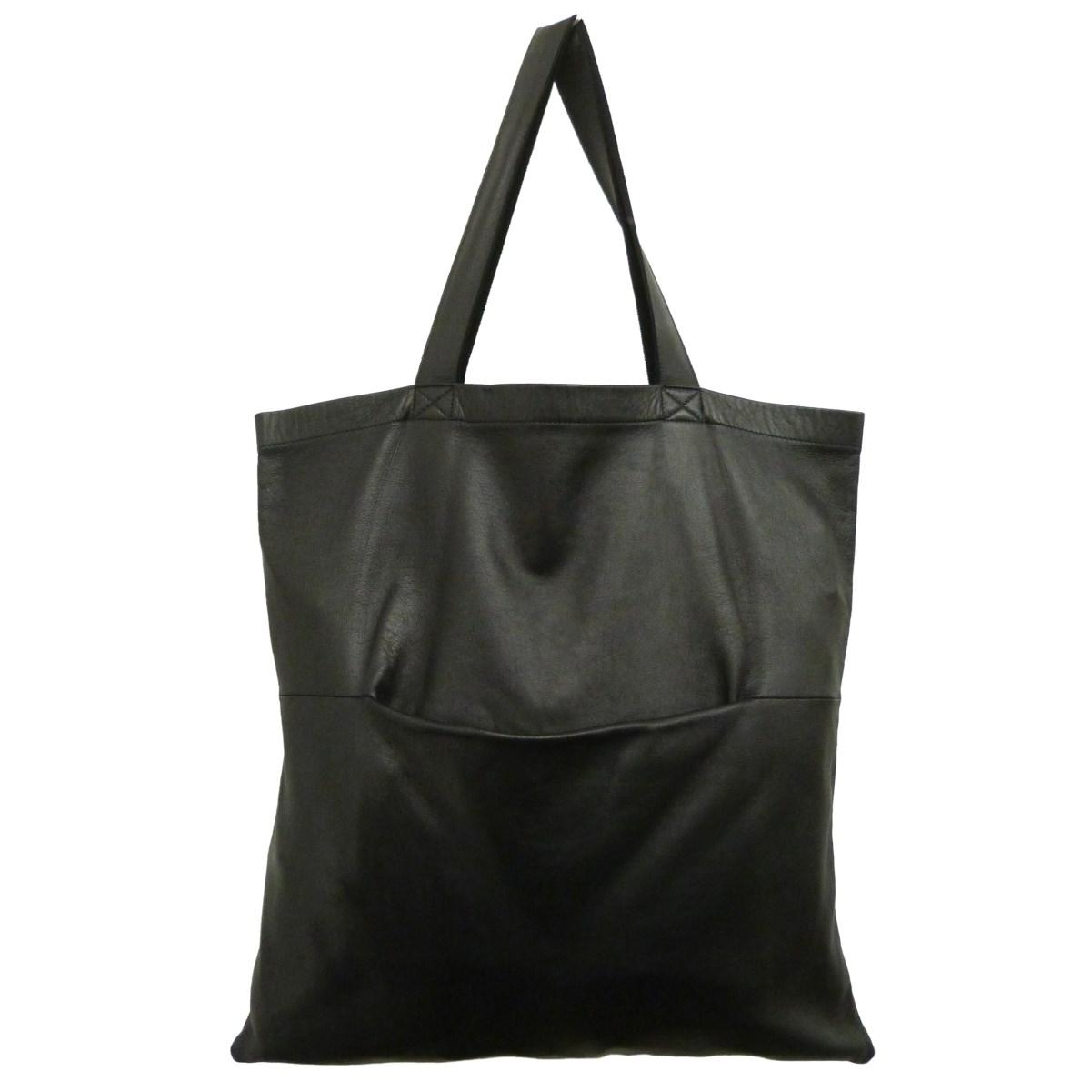 【中古】Rick Owensレザートートバッグ ブラック サイズ:-