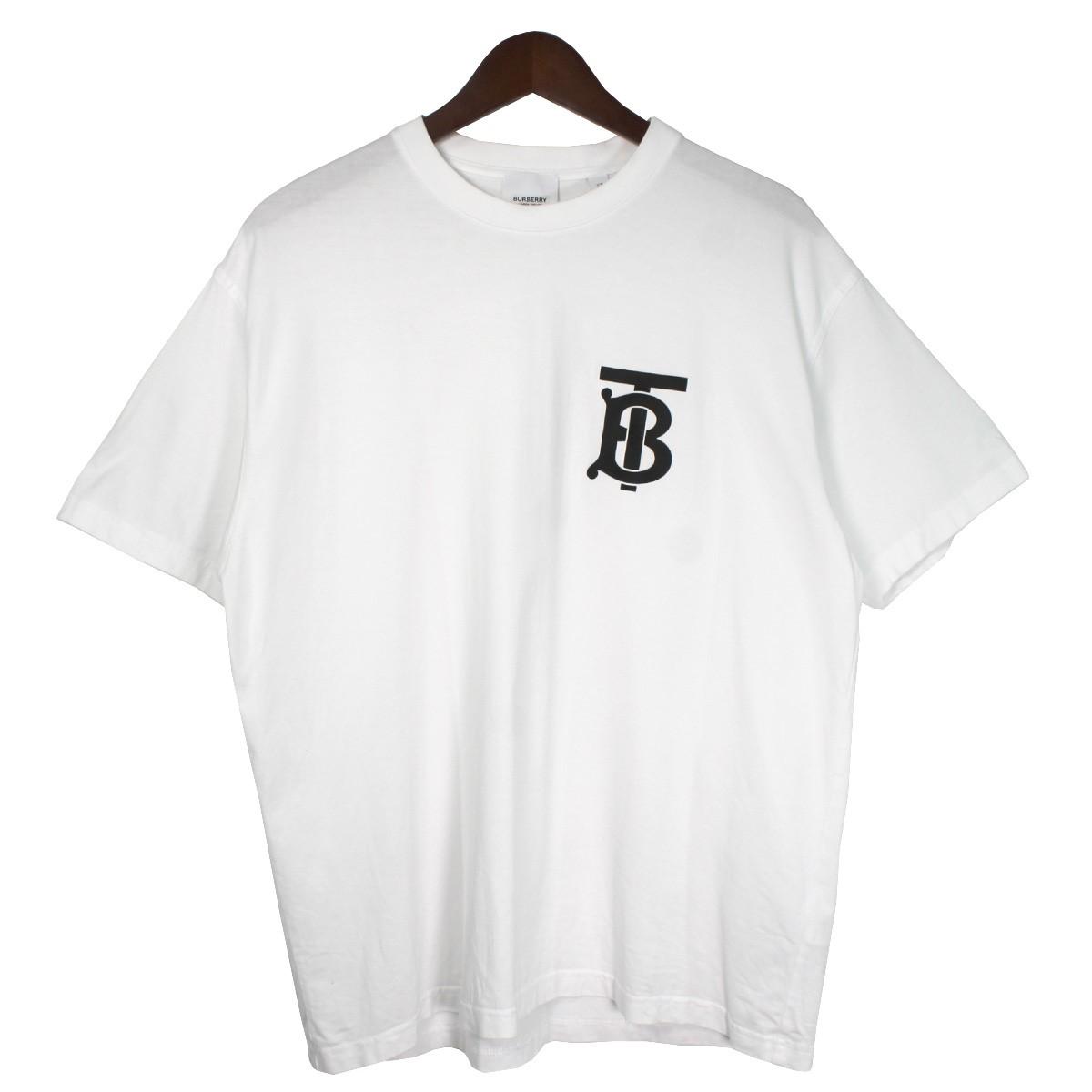 【中古】BURBERRY19SS ロゴTシャツ ホワイト サイズ:XS 【4月6日見直し】