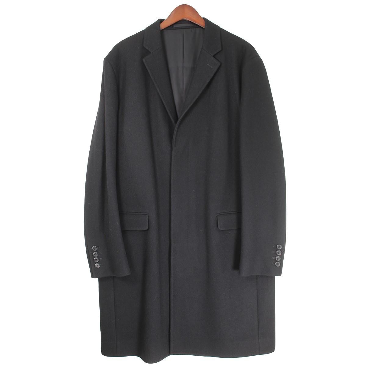 【中古】LAD MUSICIAN 18AW CHESTER COAT チェスターコート ブラック サイズ:46 【030320】(ラッドミュージシャン)
