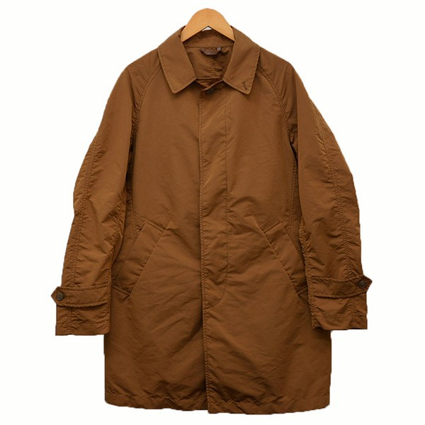 【中古】NYUZELESSステンカラー ナイロンコート コート ブラウン サイズ:1 【4月2日見直し】