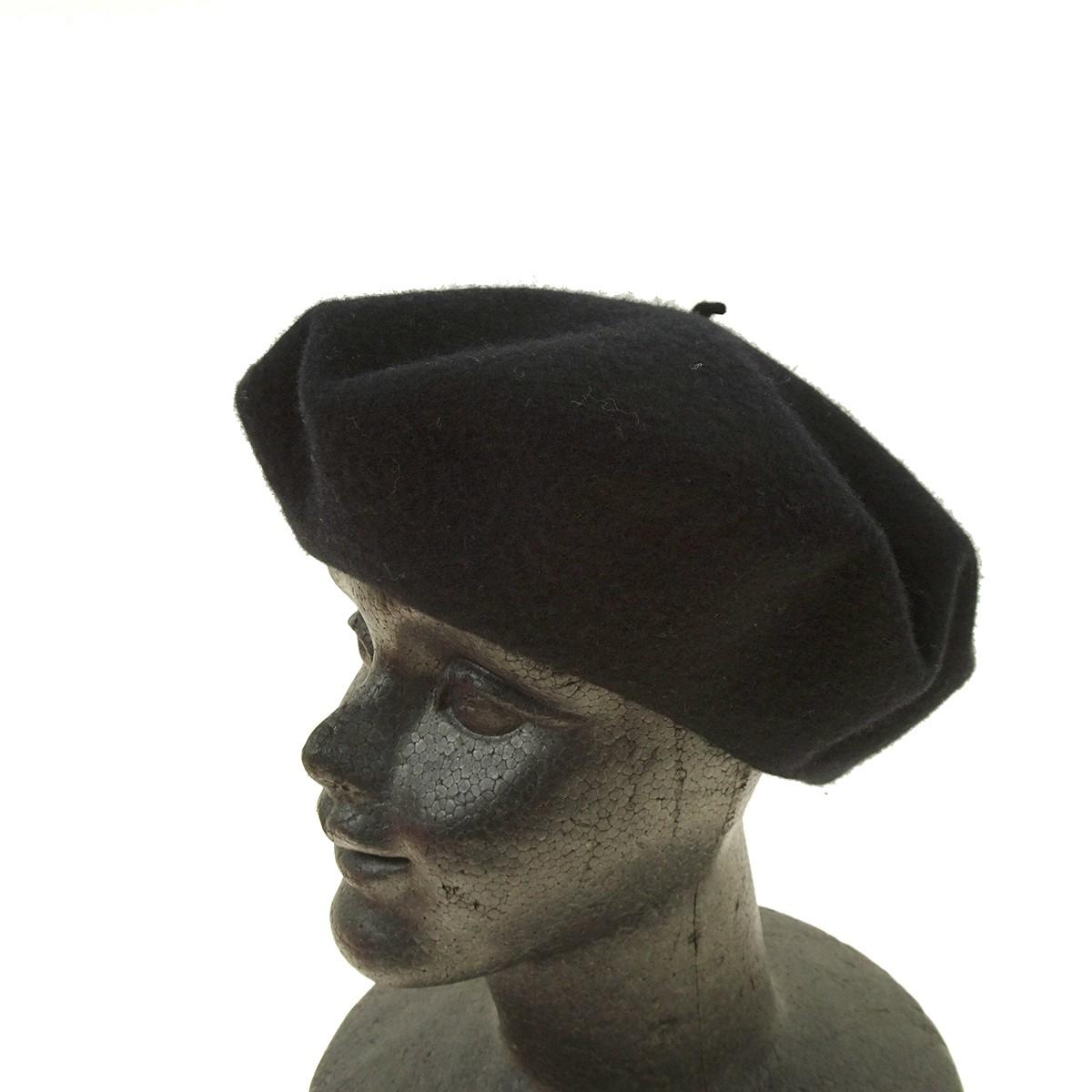 【中古】GUCCI ベレー帽 ブラック サイズ:L59 【040320】(グッチ)