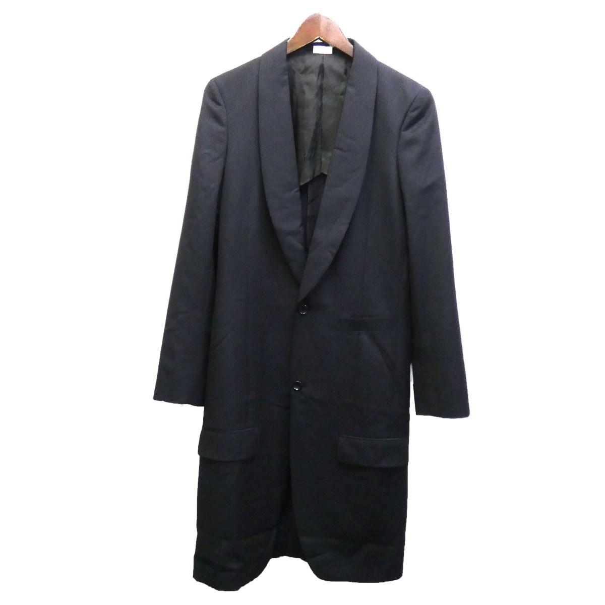 【中古】COMME des GARCONS HOMME PLUS 19AW ロングジャケット ネイビー サイズ:XS 【040320】(コムデギャルソンオムプリュス)