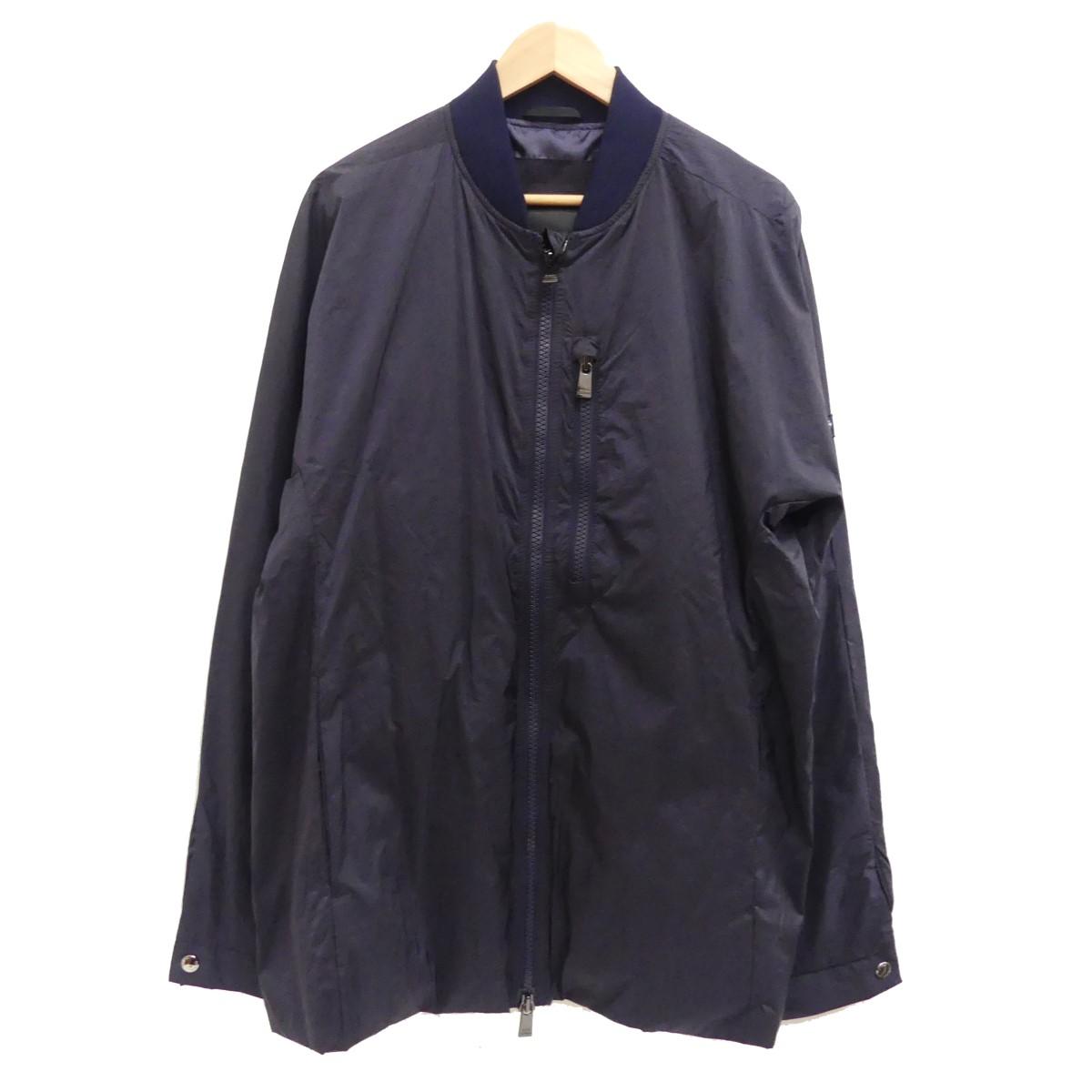 【中古】TATRAS19SS ウォッシュドナイロンボマージャケット ネイビー サイズ:6 【4月27日見直し】