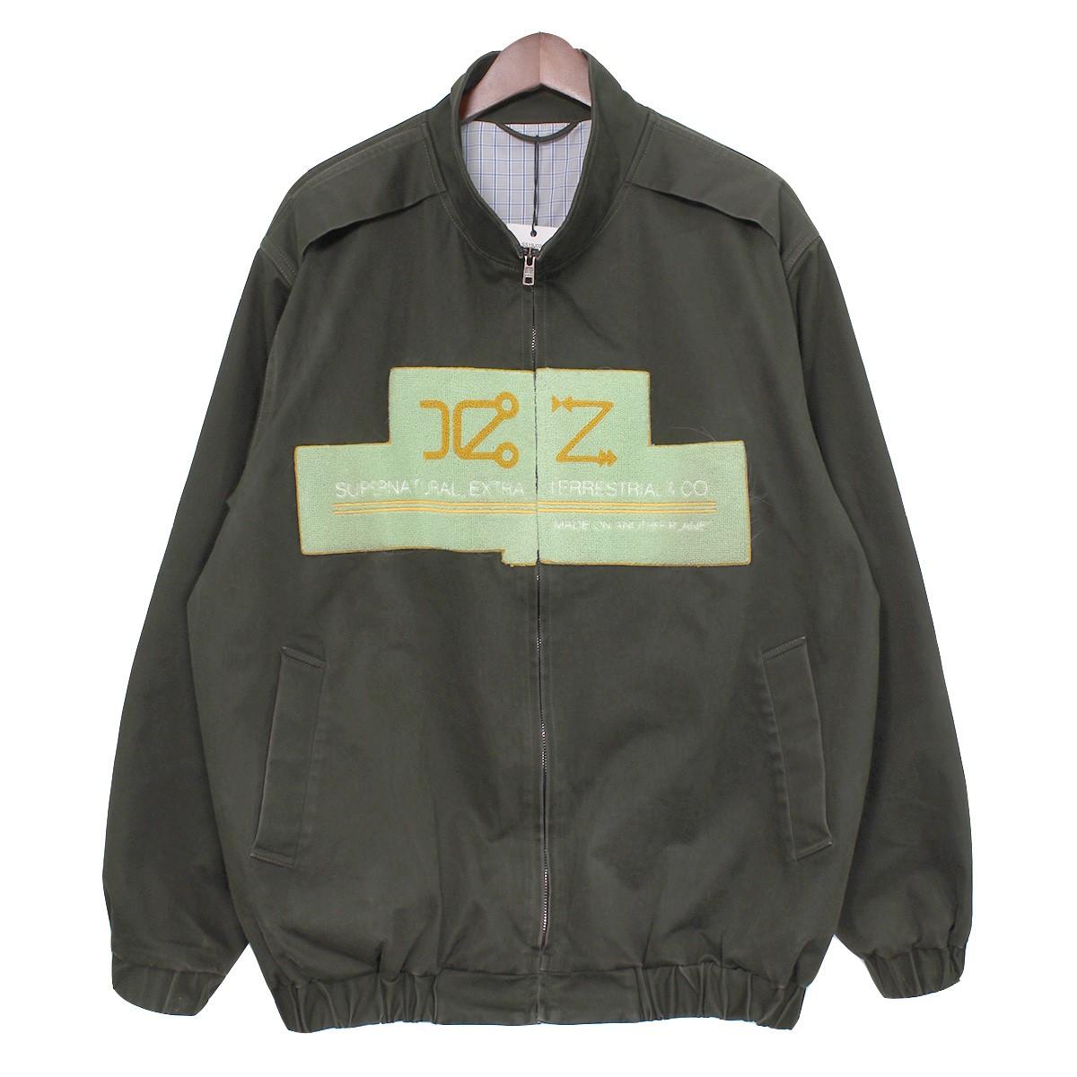 【中古】XANDER ZHOU19SS Embroidery Logo Zip Up Jacket ロゴジップアップジャケット ARMY(カーキ) サイズ:48 【3月30日見直し】