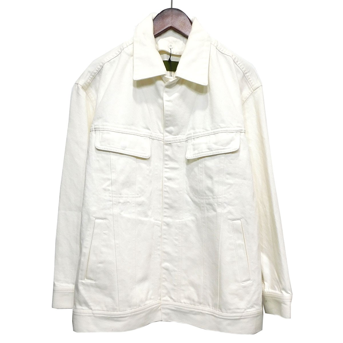 【中古】UNION LAUNCHデニムジャケット ホワイト サイズ:F 【5月14日見直し】
