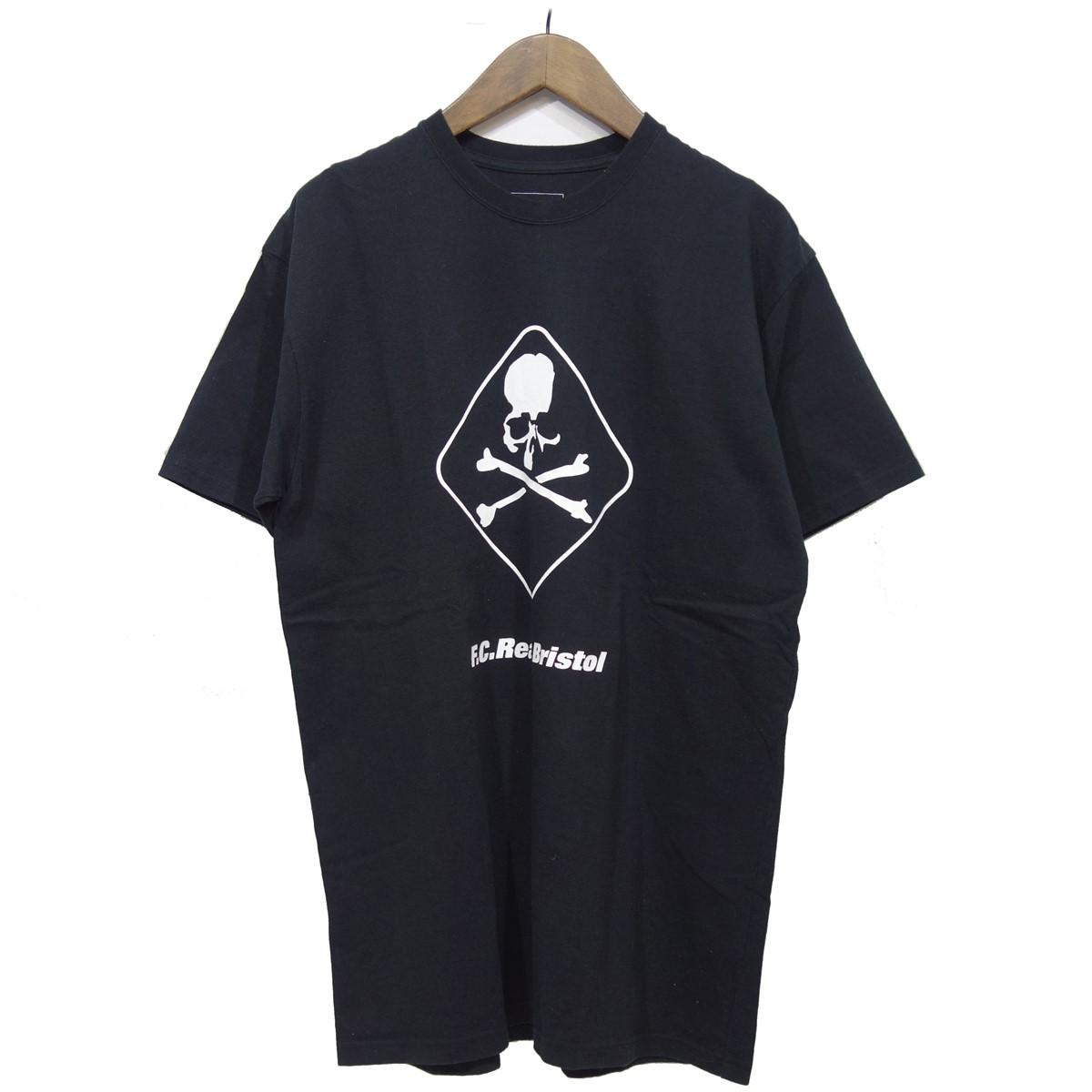【中古】F.C.R.B. 【2017S/S】 ×mastermind JAPAN 半袖プリントTシャツ ブラック サイズ:XL 【060320】(エフシーアールビー)