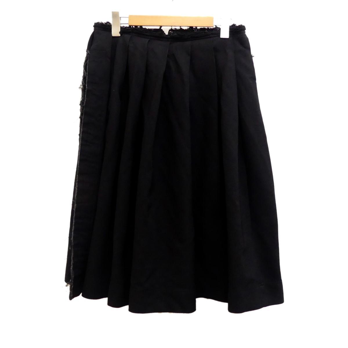 【中古】COMME des GARCONS2019SS カットオフスカート ブラック サイズ:XS