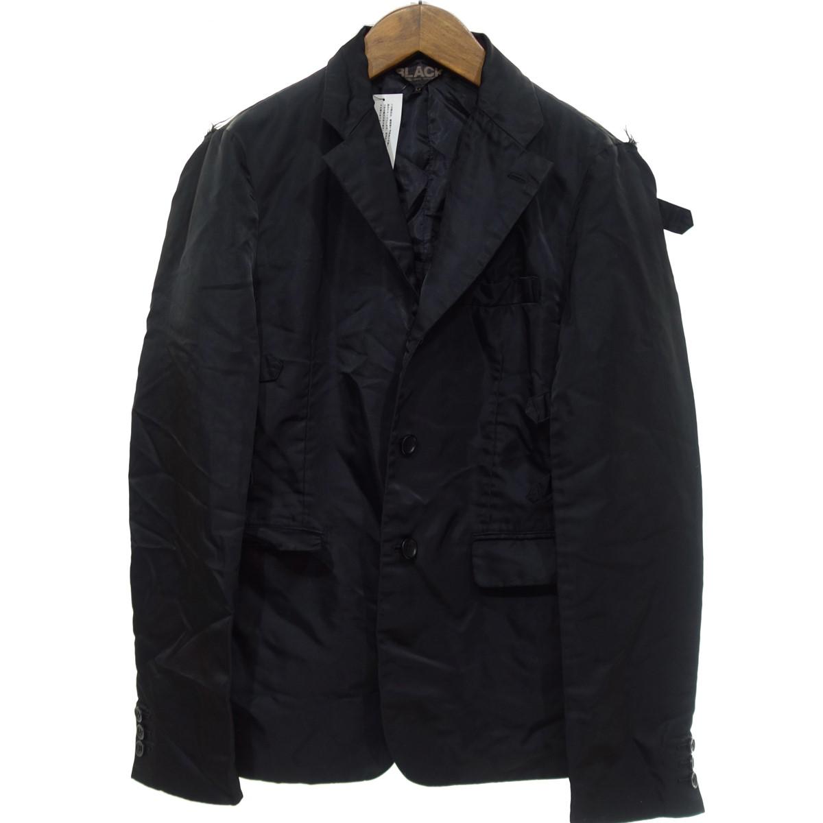 【中古】BLACK COMME des GARCONS【2017A/W】 デザイン テーラードジャケット ブラック サイズ:M 【4月6日見直し】