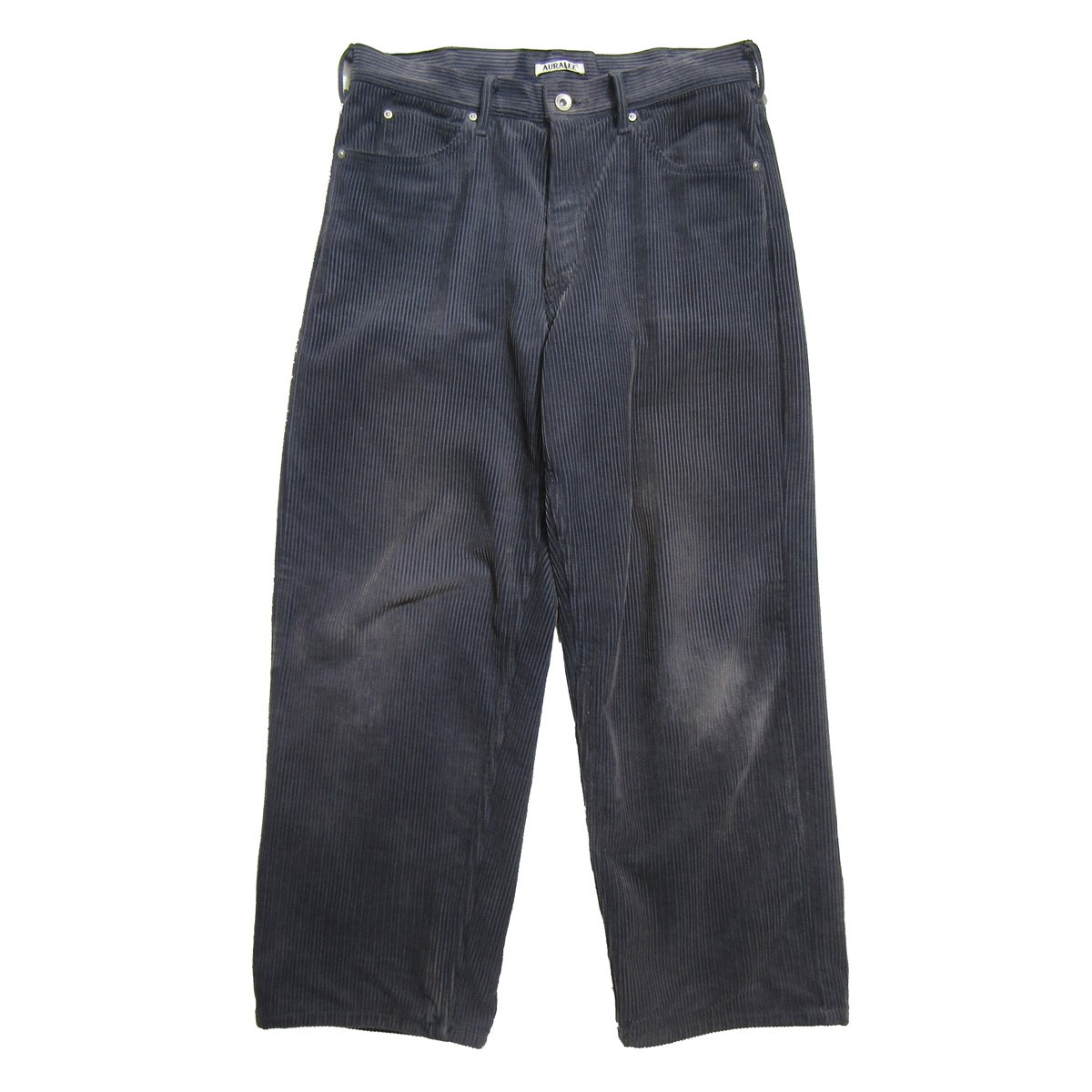 【中古】AURALEE 2019AW WASHED CORDUROY 5P PANTS/コーデュロイパンツ グレー サイズ:3 【070320】(オーラリー)