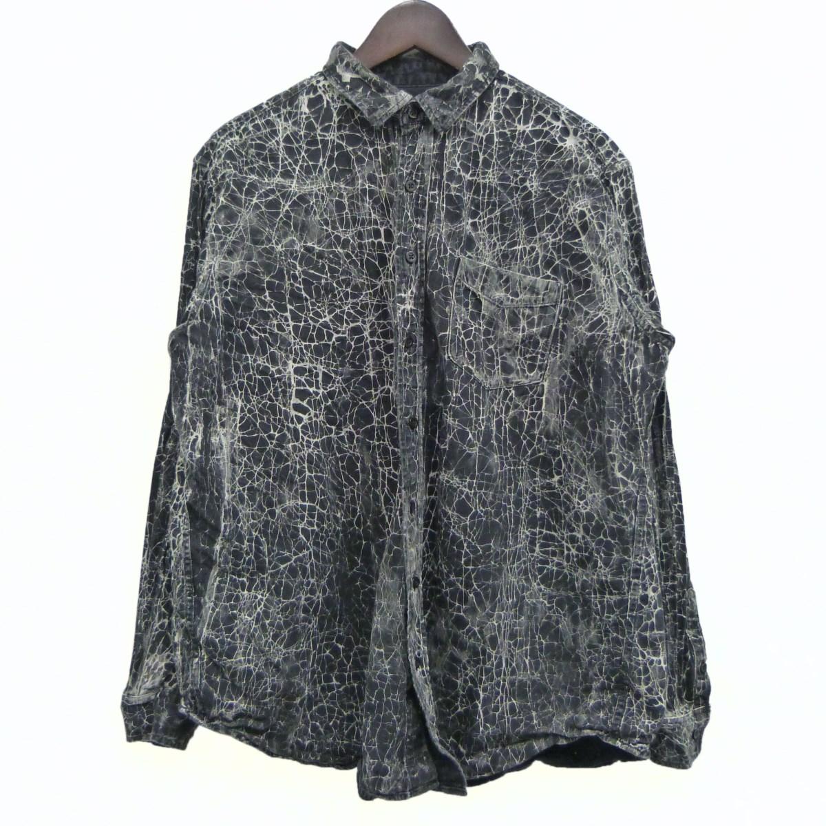 【中古】MINEDENIM クラックシャツ ブラック サイズ:2 【070320】(マインデニム)