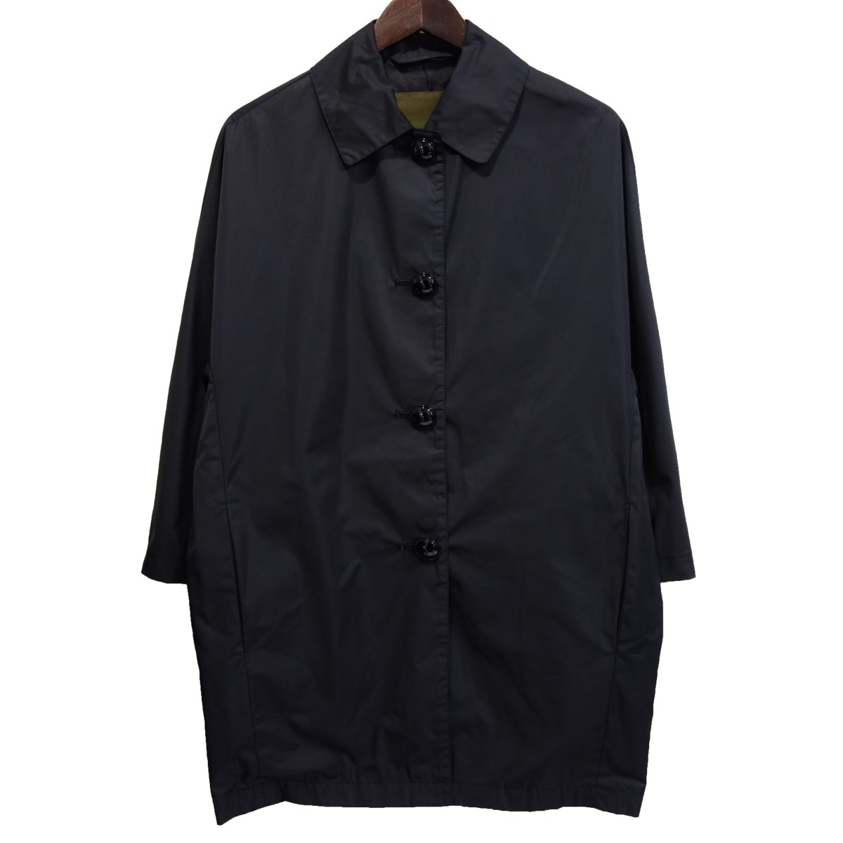 【中古】mackintosh ポリウレタンコーティングステンカラーコート ブラック サイズ:34 【070320】(マッキントッシュ)