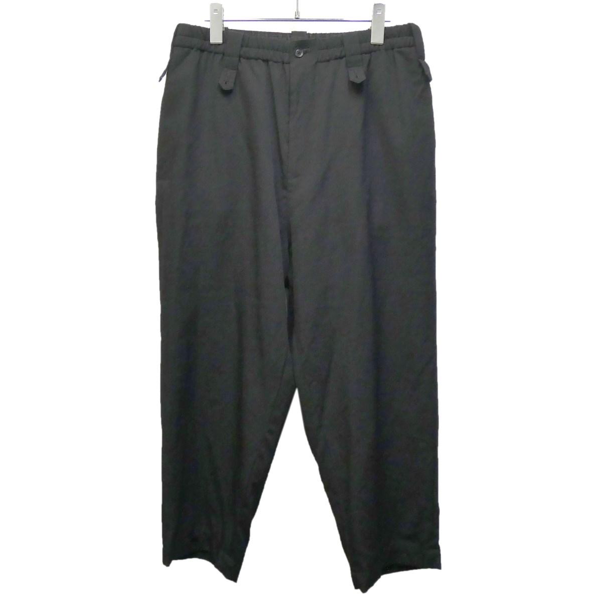 【中古】YOHJI YAMAMOTO pour homme 2018SS 「Back Pleats Slim Pants」 ブラック サイズ:2 【070320】(ヨウジヤマモトプールオム)