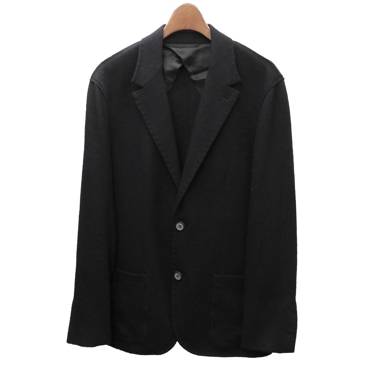 【中古】LANVINウールテーラードジャケット ネイビー サイズ:46 【7月9日見直し】