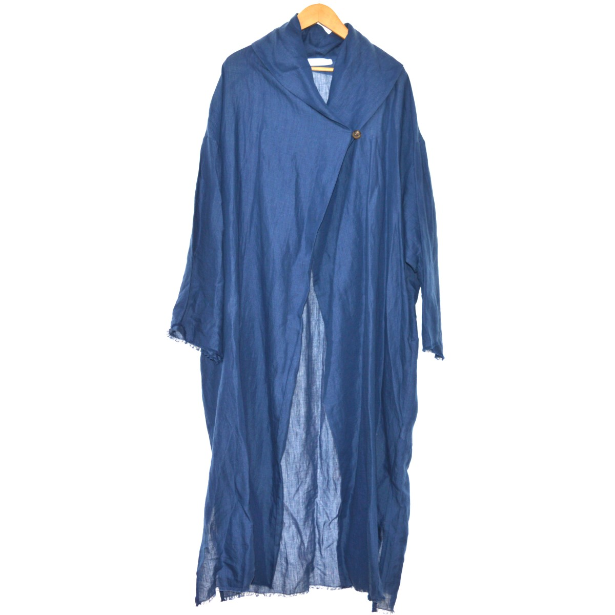 【中古】SEYA. BIOTOP別注 ロングシャツコート ブルー サイズ:S 【080320】(セヤ)