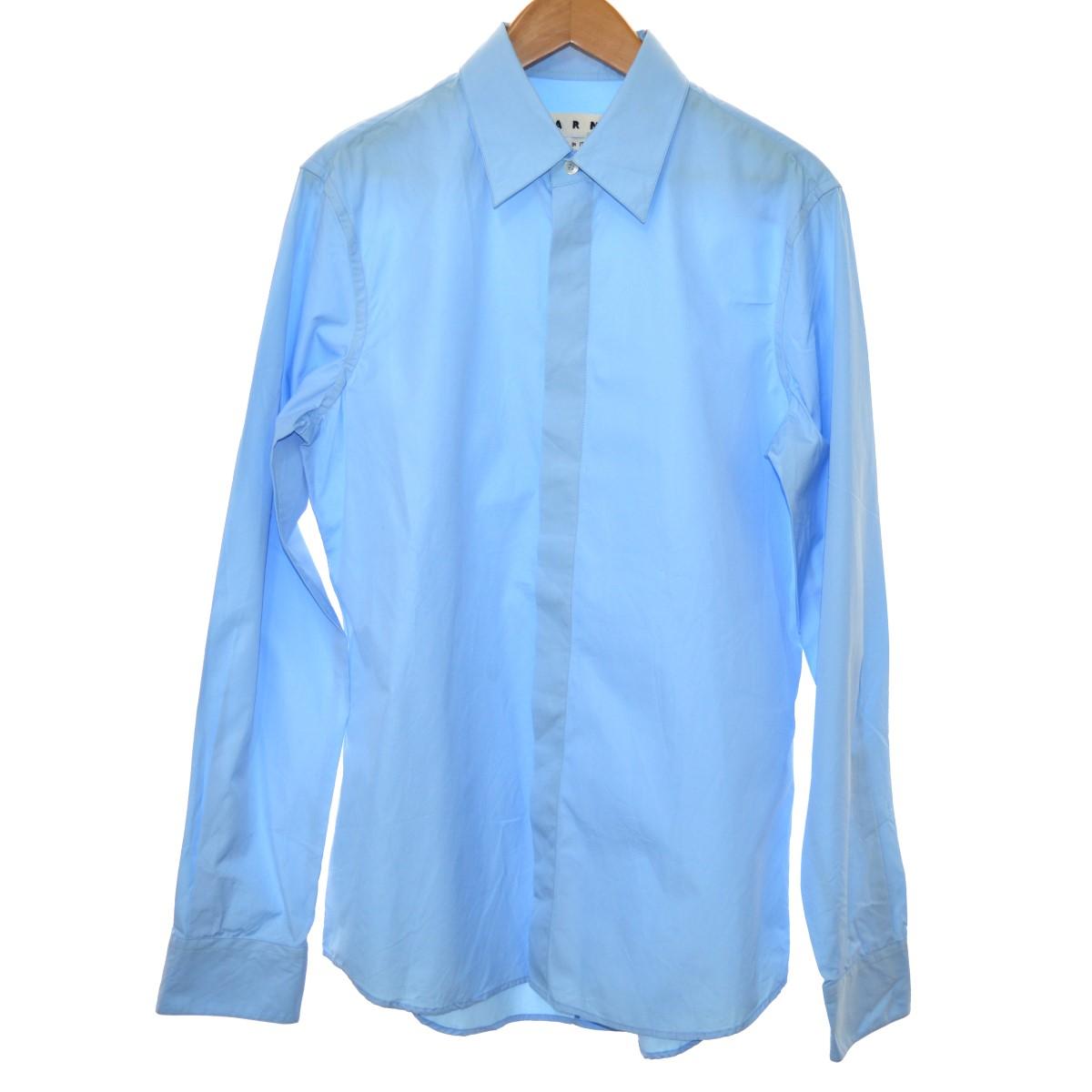 【中古】MARNI 17SS ドレスシャツ スカイブルー サイズ:50 【080320】(マルニ)