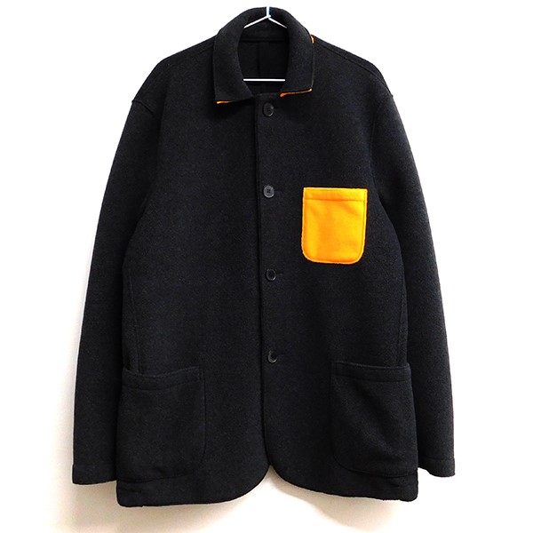 【中古】HARRIS WHARF LONDON ポケット切替フリースジャケット グレー サイズ:50 【070320】(ハリスワーフロンドン)