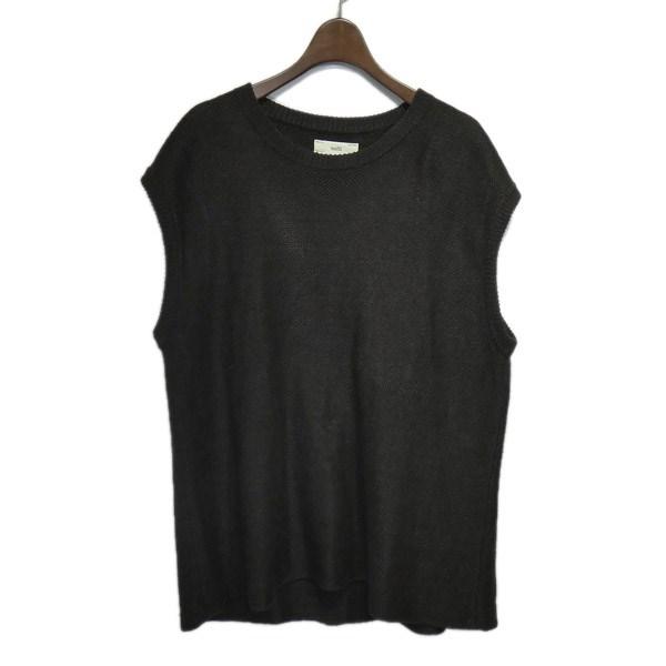 【中古】unfil 2018SS「French Linen Honeycomb-Knit Vest」リネンニットベスト ブラウン サイズ:4 【080320】(アンフィル)