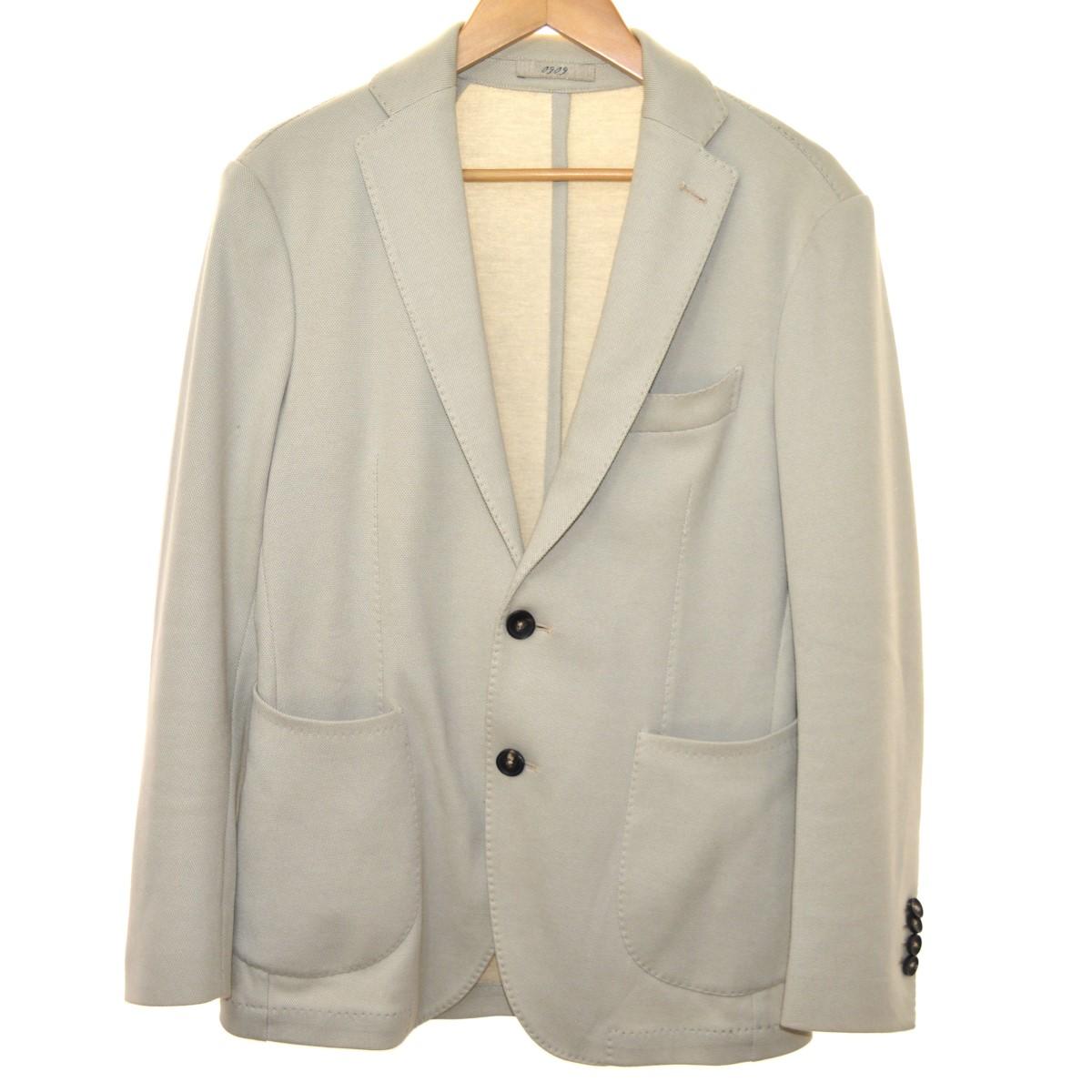 【中古】09097-N テーラードジャケット アイボリー サイズ:44 【5月14日見直し】