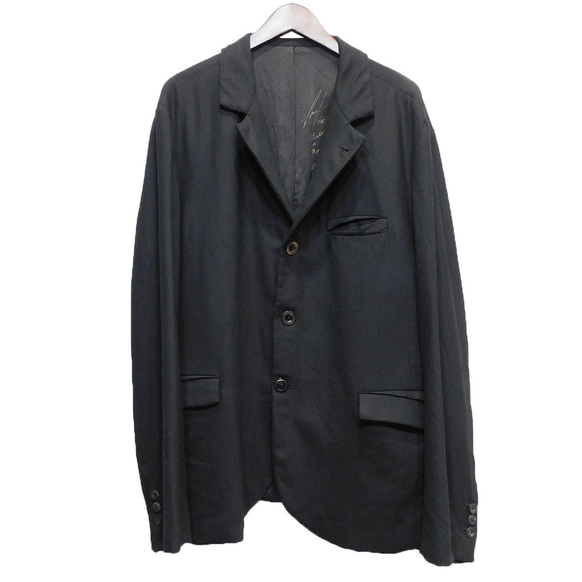 【中古】GEOFFREY B.SMALLサイン入りウールジャケット ブラック サイズ:XL 【5月11日見直し】