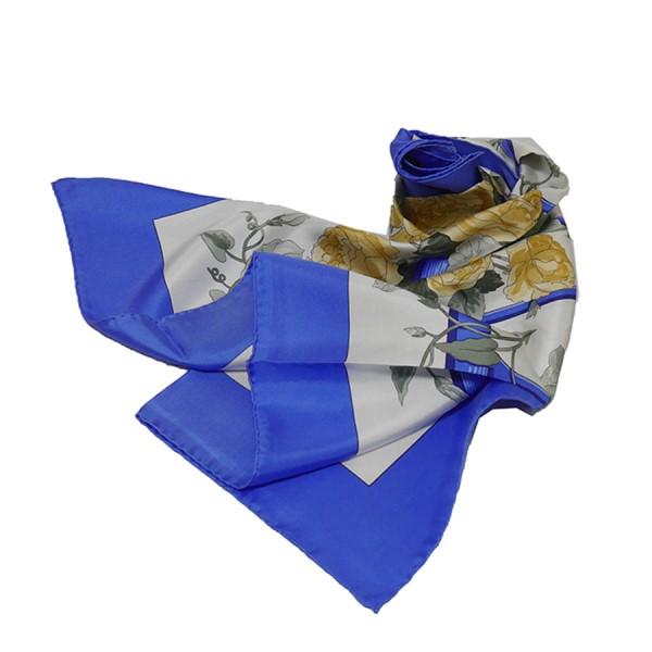 【中古】HERMES カレ90P ParisPour Takashimaya ブルー サイズ:- 【080320】(エルメス)
