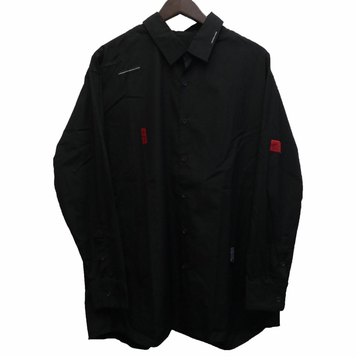 【中古】LAD MUSICIAN 18AW 「BROAD CLOTH PLANE BIG SHIRT」 シャツ ブラック サイズ:42 【090320】(ラッドミュージシャン)