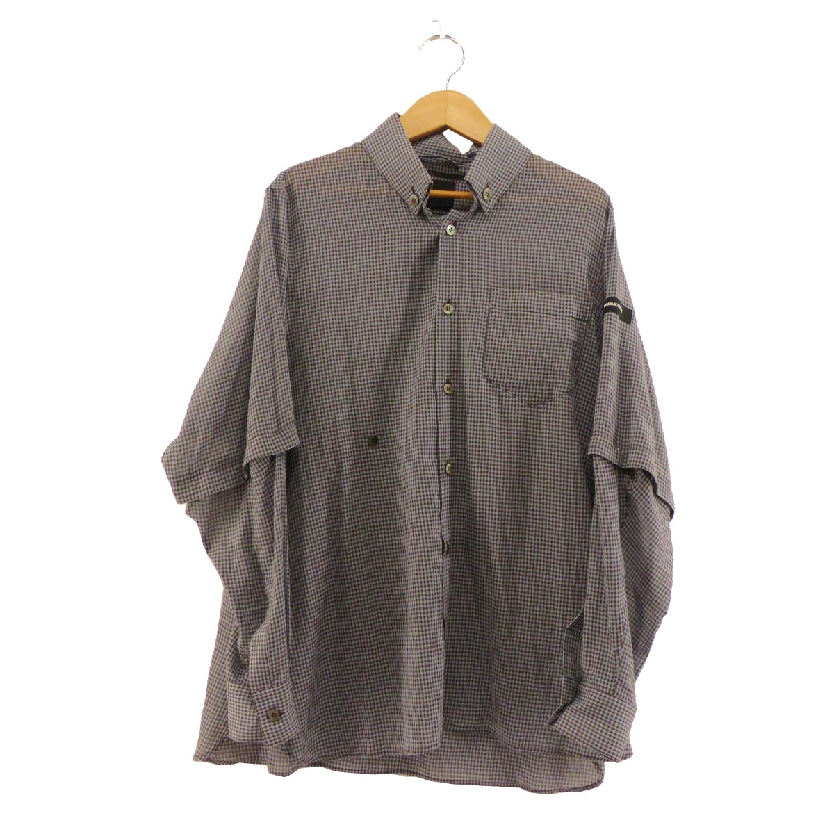 【中古】SYU HOMME 2019SS Double coiler convertible Shirt グレー サイズ:1 【090320】(シュウ オム)