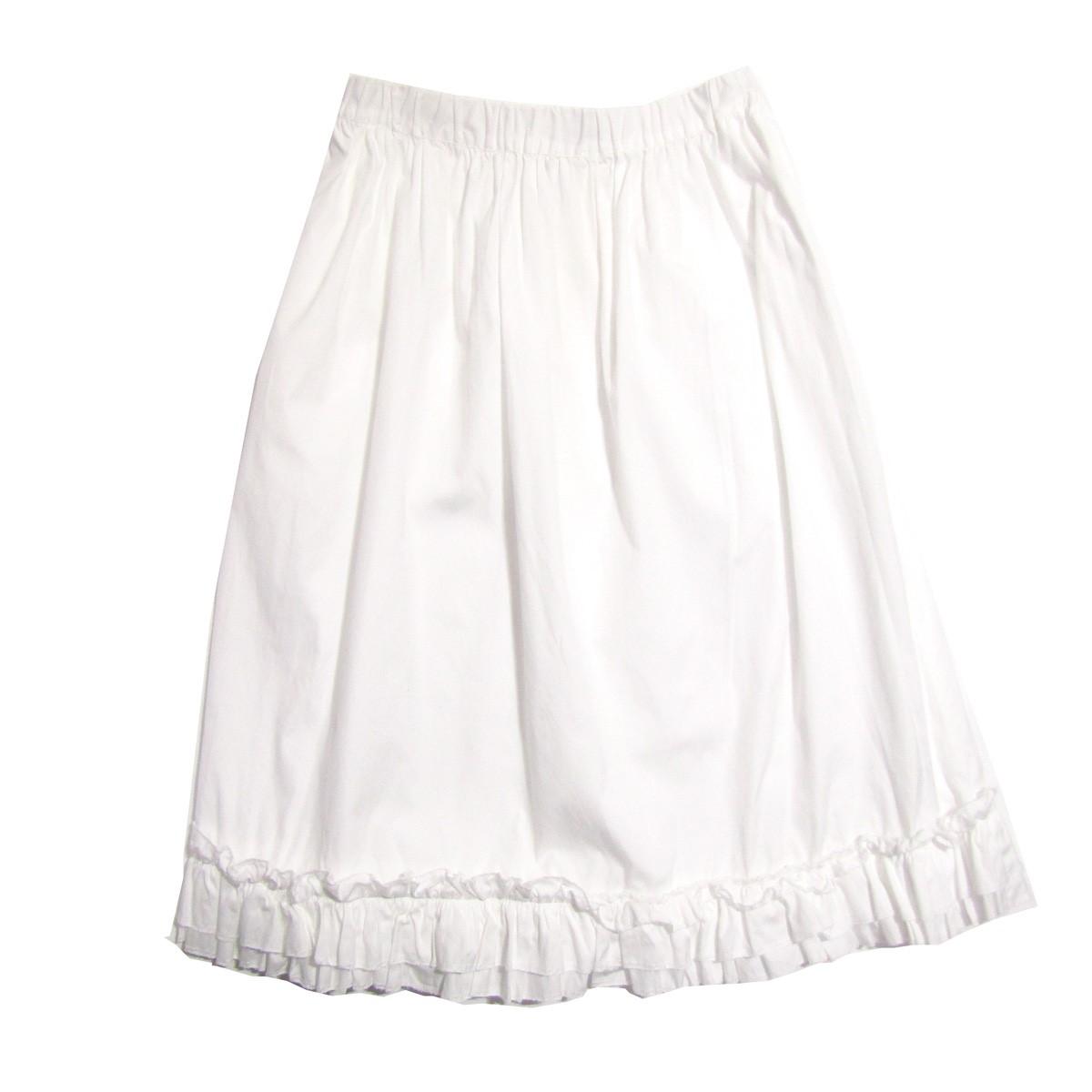 【中古】COMME des GARCONS COMME des GARCONS フリルコットンスカート ホワイト サイズ:XS 【090320】(コムデギャルソンコムデギャルソン)