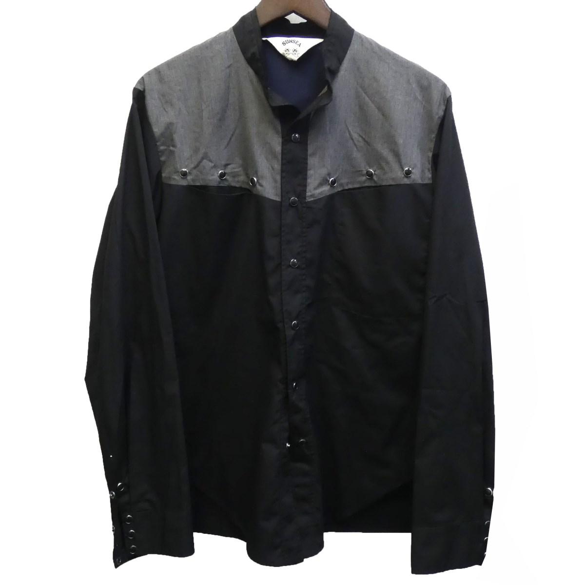 【中古】SUNSEA 18AW「VINCENT SHIRT 2」ヴィンセントシャツ ブラック サイズ:2 【090320】(サンシー)