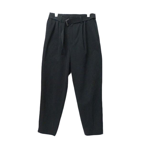 【中古】ISSEY MIYAKE MEN 2020SS ベルト付きタックワイドパンツ ベルテッドパンツ ブラック サイズ:1 【090320】(イッセイミヤケメン)