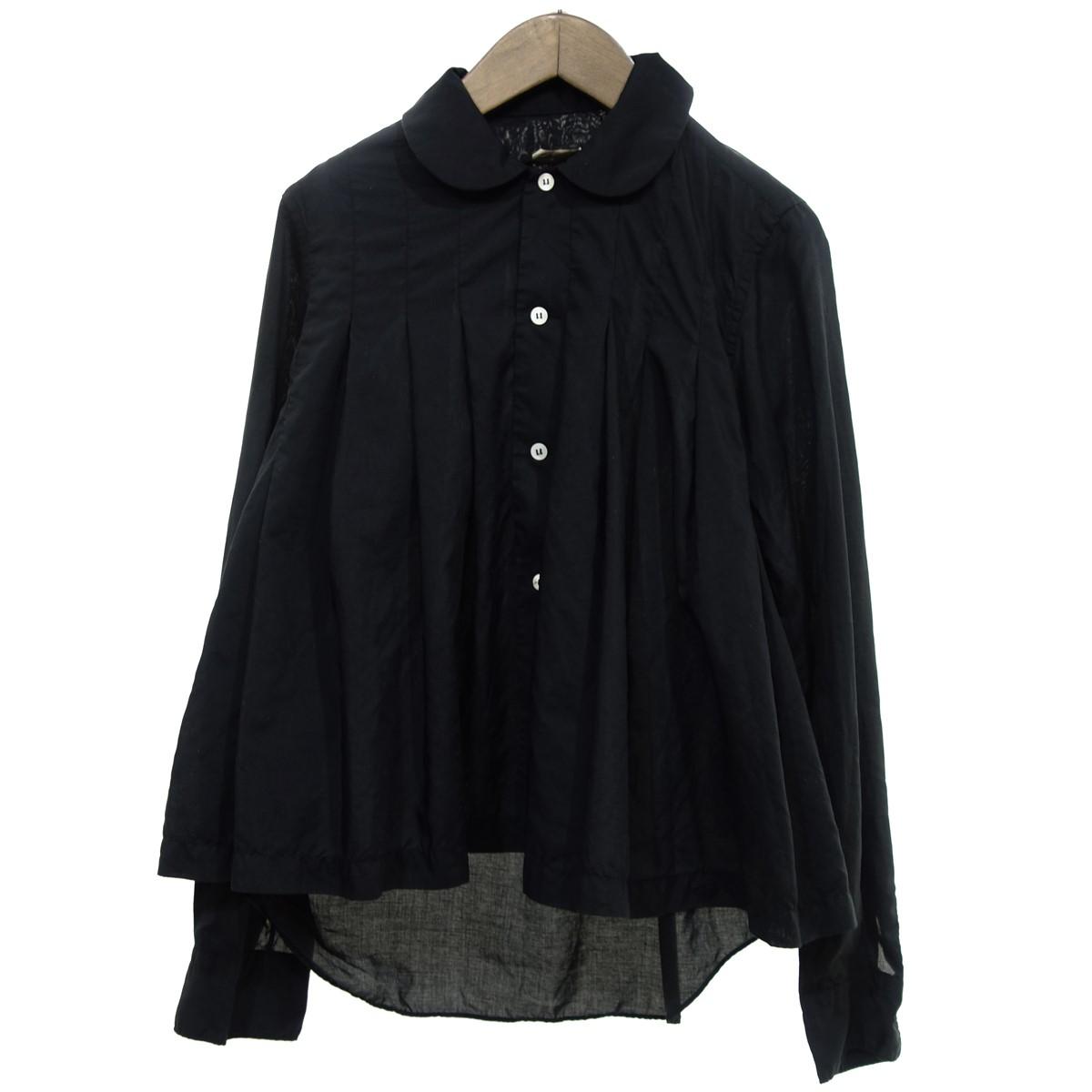 【中古】COMME des GARCONS ポリエステル シャツ ブラック サイズ:XS 【110320】(コムデギャルソン)