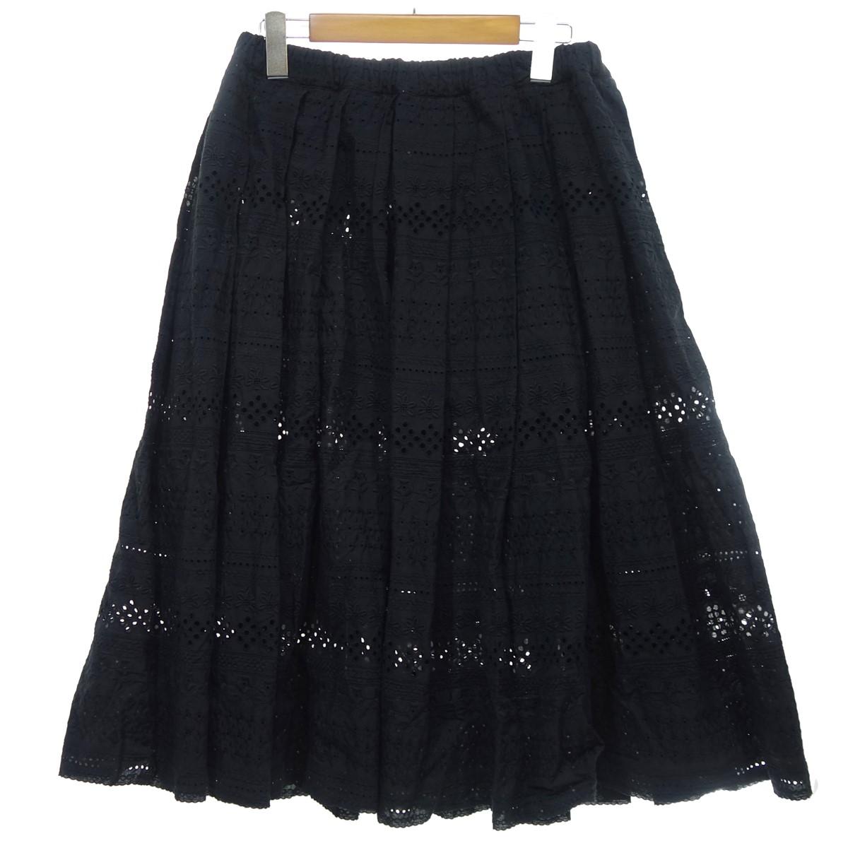 【中古】COMME des GARCONS COMME des GARCONS 【2018S/S】 レーススカート ブラック サイズ:XS 【110320】(コムデギャルソンコムデギャルソン)