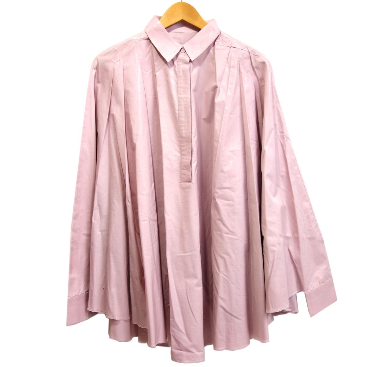 【中古】MM6 Maison Margiela ワイドシルエットプリーツコーティングシャツ パープル サイズ:42 【110320】(エムエムシックスメゾンマルジェラ)