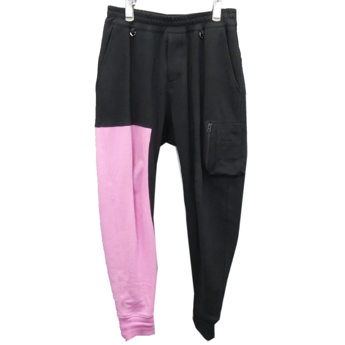 【中古】C2H4 ×Mastermind JAPAN ×Alpha 2020SS 裾スカルスウェットパンツ ブラック×ピンク サイズ:S 【110320】(シーツーエイチフォー)