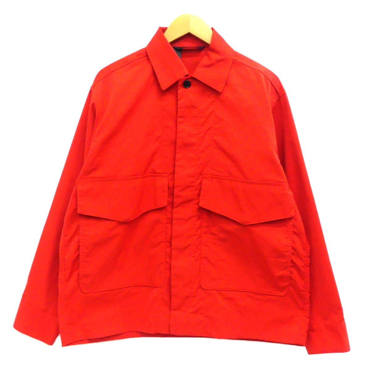 【中古】N.HOOLYWOOD2019SS 「LONG SLEEVE SHIRT JACKET」 シャツジャケット レッド サイズ:36 【5月14日見直し】